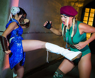 Sex Fighter: Chun Li vs. Cammy (XXX Parody) - Christen Courtney - Rina Ellis - 2