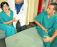 Sexy Doctor Takes Advantage Of Male Nurse - Andy San Dimas - 1