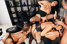 Ava Addams, Francesca Le, Vanilla Deville & Veronica in Office 4-Play - Picture 2