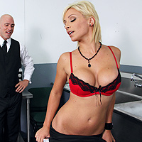 Lexi Swallows The Waiter