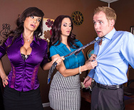 Ogling in the Office - Lisa Ann - Ava Addams - 1