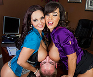 Ogling in the Office - Lisa Ann - Ava Addams - 3