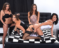 Black and White Fourgy - Abigail Mac - Ashli Ames - Brooklyn Chase - Chanel Preston - 1